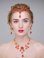 Women's Alloy Headpiece-Wedding Tiaras 3 Pieces