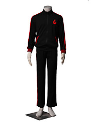 Inspired by Naruto Boruto Anime Cosplay Costumes Cosplay Suits Solid Black Long Sleeve Coat / Pants