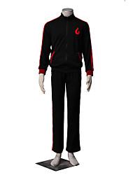 Inspiré par Naruto Boruto Manga Costumes de Cosplay Costumes Cosplay Couleur Pleine Manches Longues Manteau Pantalon Pour Masculin