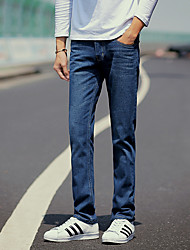 Men's Fashion Classic Wild Solid Slim Fit Straight Casual Jeans,Casual / Plus Size/Straight