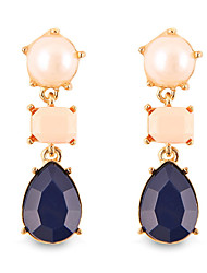 Fashion  Personality Luxuriant Gem Pearl Teardrop-shaped Drop Earrings