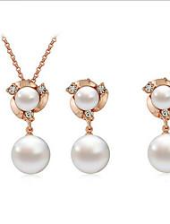 Bijoux Colliers décoratifs / Boucles d'oreille Collier / Boucles d'oreilles A la Mode Quotidien / Décontracté 1set Femme DoréCadeaux de