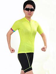 Esportivo Moto/Ciclismo Camisa + Shorts / Blusas / Fundos Mulheres Manga Curta Respirável / Redutor de Suor Elastano EsporteS / M / L /