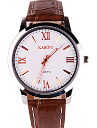 Men's Casual Leather Strap Watch