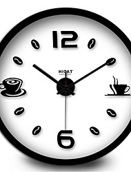 Simple Coffee Room Home Furnishing Mute  Digital Quartz Wall Clock