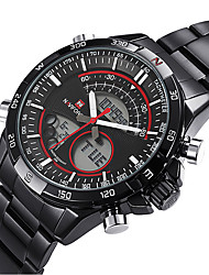 Fashion Military Mens Sport Wrist Digital Watches Dual Time Zone Date Day LCD Wrist Watch Cool Watch Unique Watch