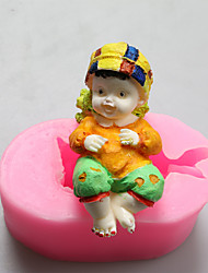 Baby Boy Chocolate Silicone Molds,Cake Molds,Soap Molds,Decoration Tools Bakeware