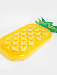 185 * 80cm PVC Adult Inflatable Air Cushion Pineapple Fruit Floating Row Floating Bed Water Summer Swimming Supplies