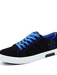 Men's Sneakers Spring Fall Suede Athletic Flat Heel Lace-up Others Blue Green Red