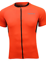 Cycling Jersey Short Sleeve 100% Polyester Breathable Men Cycling Jersey Orange
