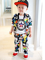 Boy's Casual/Daily Animal Print Clothing Set,Nylon Winter / Spring / Fall Black / Blue