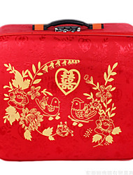 Unisex PVC Wedding Luggage Red
