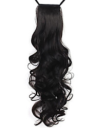 Excellent Quality Synthetic 24 Inch Long Curly Clip In Ponytail Hairpiece 4 Colors Available