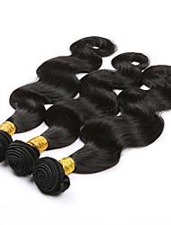 3pcs / lot 8a pelo brasileño lía brasileña del pelo extensiones traje barato maraña de pelo pelo virginal de la armadura del pelo libre