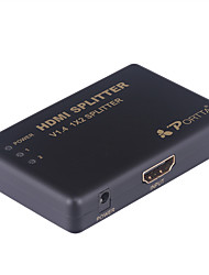 PORTTA 4PET0102  2-Port 1-In 2-Out HDMI Certified 1.4, 4Kx2K Support 3D, 1.3 Compatible Amplified Splitter Switch