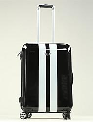 Unisex PVC Outdoor Luggage White / Black
