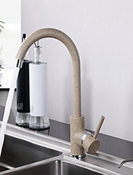 Warpeu® Contemprorary Painting Single Handle Brass Kitchen Faucet Mixer