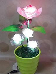 1pc llevó regalo del día de la originalidad de la decoración de San Valentín se levantó luz de la noche