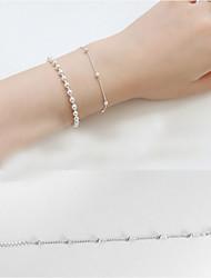 Fashionable Sterling Silver 22cm Round Strand Bracelets
