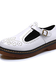 Women's Oxfords Spring / Summer / Fall Comfort / Round Toe / Closed Toe  Casual Flat Heel Buckle Walking
