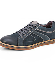 Serene® Men's Cowhide Oxfords / Athletic Shoes Gray / Navy-6271