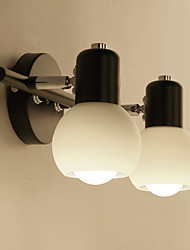 Retro Simplicity Glass Wall Lights Metal Base Cap Dining Room Cafe Bars Bar Table Hallway Bathroom Mirror lights