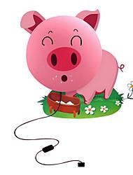 porco cor de rosa criativo noturna parede DIY