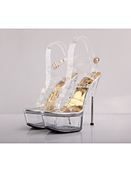2017 new transparent sandals 15cm Cinderella crystal high-heeled shoes catwalk catwalk stiletto shoes