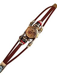 Women's Vintage Fashion Leather Strap Bracelet Watch
