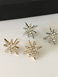 Earring Flower Stud Earrings Jewelry Women Fashion Party / Daily / Casual Alloy / Rhinestone 1 pair Gold / Silver
