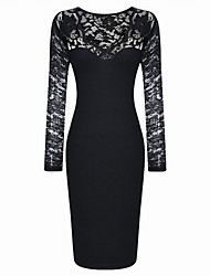 Women's A-Line Bodycom Long Sleeve Dress