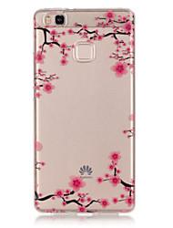de volta Transparentes TPU Macio TPU + IMD Material Case Capa Para Huawei Huawei P9 / Huawei P9 Lite / Huawei P8 Lite