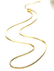 Fashion Sample 24K Gold Plated Necklaces Golden Chain Necklaces Daily / Casual 1pc Jewelry