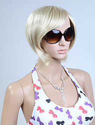 Capless Blonde Color Short High Quality Natural Straight Synthetic Wig