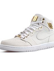 Nike Air Jordan 1 Retro High OG Chukka Men's Shoe Skate Sport Sneakers Athletic Casual Shoes White Glod