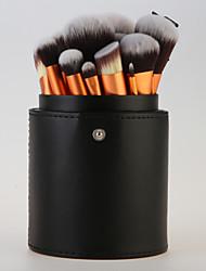 22pcs Gold Professional Makeup Brush Set with Cylinder Case
