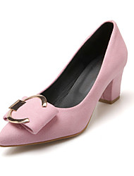 Women's Shoes Leatherette Chunky Heel Heels Heels Wedding / Party & Evening / Dress / Casual Black / Pink / Purple