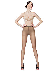 BONAS® Women Solid Color Thin Pearlescent Legging 15D Breathable Pantyhose