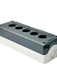 caixa de botão sbx05 alimentação da caixa de cinco caixa de botão de controle de luz de plástico sbx05 cabo à prova de água
