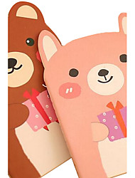 South Korea Creative Stationery Cute Cartoon Animals Notepad (Random Color)