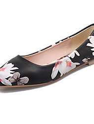 Women's Flats Summer Comfort PU Casual Flat Heel Others Black White