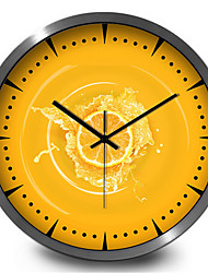 Simple Creative Yellow Orange Bedroom Decoration Home Furnishing Wall Clock