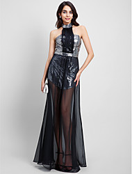 TS Couture Prom / Formal Evening Dress - Celebrity Style Sheath / Column Halter Floor-length Chiffon Sequined with Sequins