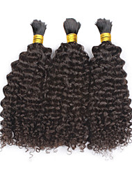"3pcs/lot Kinky Curly Hair Bulk 12""-28""Mongolian Human Braiding Hair Bulk for Braiding Human Hair No Attachment"
