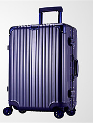 Unisex PVC Outdoor Luggage Blue / Silver / Black