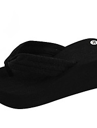 Women's Slippers & Flip-Flops Summer Flip Flops Polyester Casual Wedge Heel Others Black / Blue