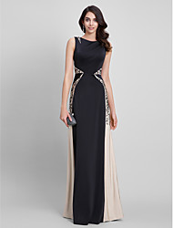 2017 TS Couture® Formal Evening Dress Sheath / Column Bateau Floor-length Jersey with Appliques
