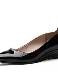 Черный-Женская обувь-На каждый день-Полиуретан-На толстом каблуке-На каблуках-Обувь на каблуках