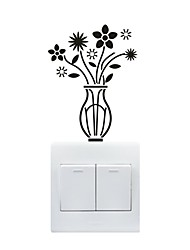AYA™ DIY Wall Stickers Wall Decals, Vase Type PVC Switch Panel Stickers 10*13cm