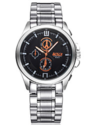 Men's Steel Belt three-dimensional Hydraulic Pressure Inside the Shadow Face Business Watch Fashion Watch